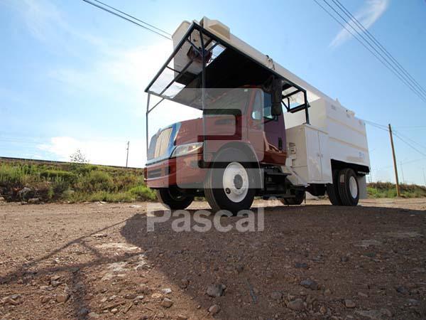 Camion International 4300 grúa canastilla