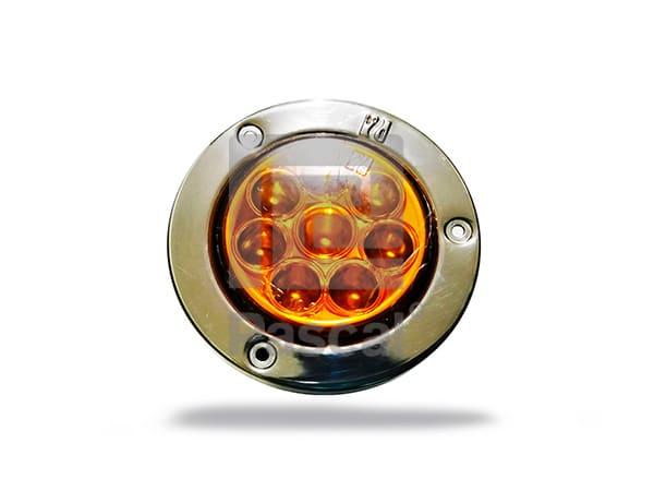 Luz redonda 2 1-2 ámbar