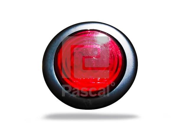 Luz redonda 2 roja