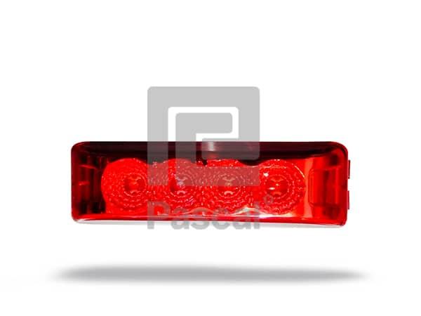 Plafón rectangular 4 luces led